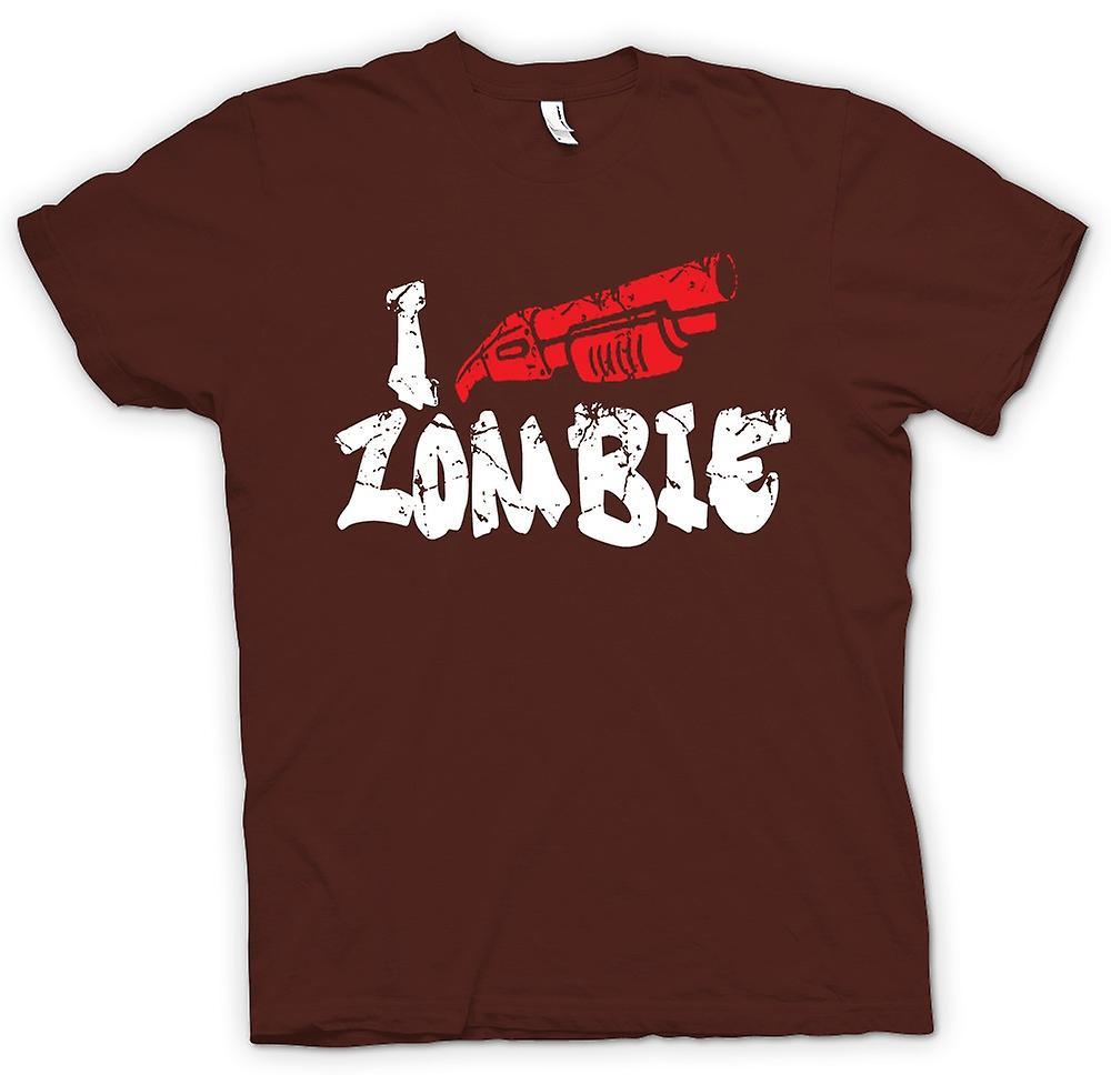 Heren T-shirt - Ik schiet Zombies - Funny