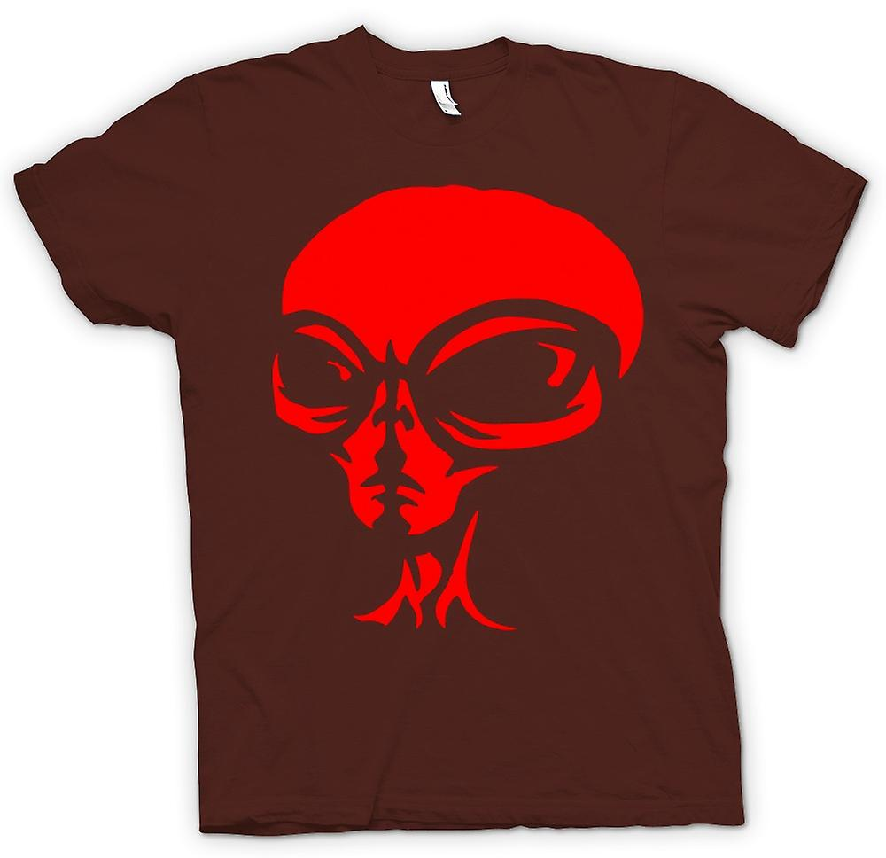 Heren T-shirt - UFO - Alien Head