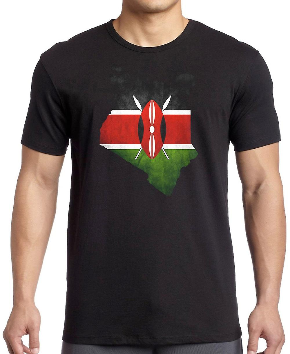 Kenya Kenyan Flag Map T Shirt
