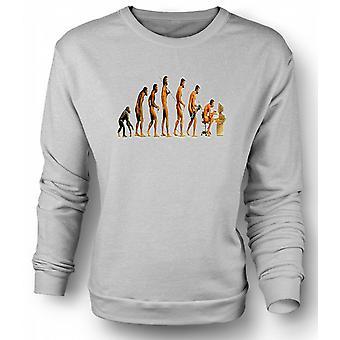 Mens Sweatshirt Mans Evolution - Funny
