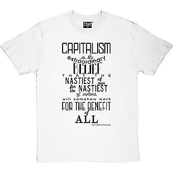 John Maynard Keynes kapitalismen citat mäns T-Shirt