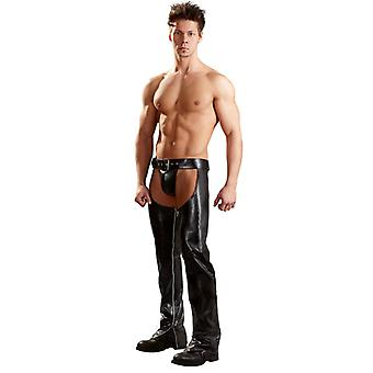 Faux leather chaps