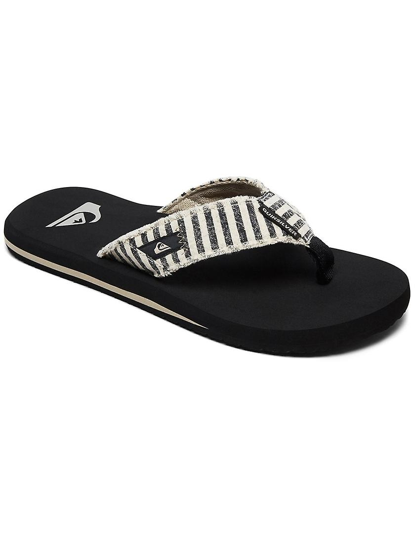 Quiksilver Monkey Abyss Canvas Sandals in Black/Black/Grey