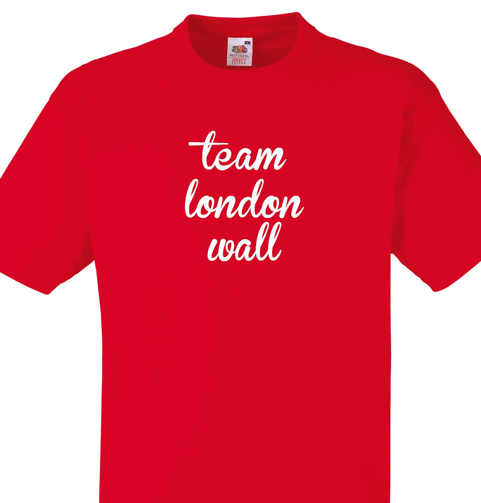 Team London wall Red T shirt