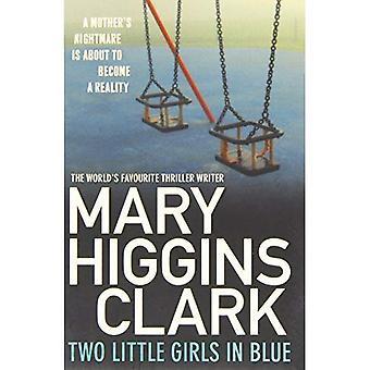 Två små flickor i blått