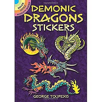 Demoniska drakar klistermärken