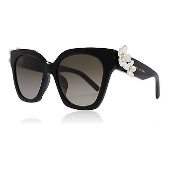 Marc Jacobs Daisy/S 807 Black Daisy/S Square Sunglasses Lens Category 2 Size 52mm