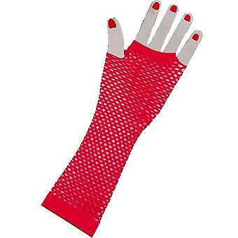 Gloves Fingerless Long  Pink