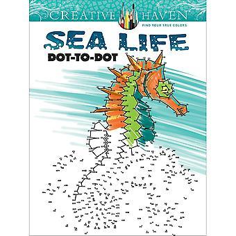 Dover Publications-Creative Haven: Sea Life Dot To Dot