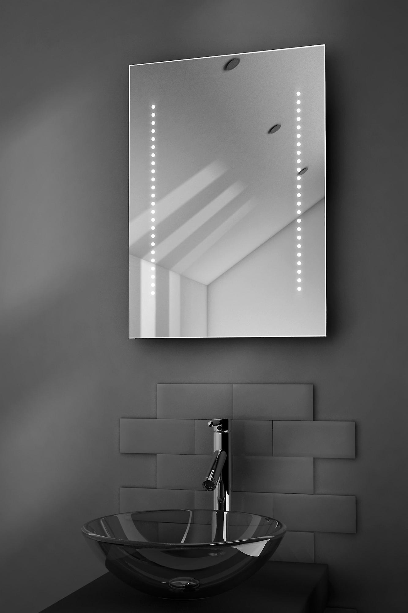 Regard ultra-plat LED salle de bain miroir avec désembuage Pad & capteur k10