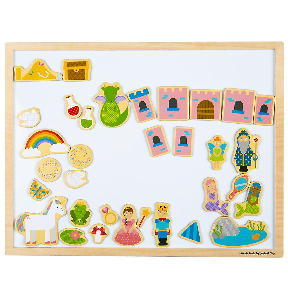 Bigjigs Toys Wooden Educational Magnetic Board - Early Learning Magnets