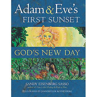 Adam and Eve's First Sunset - God's New Day by Sandy Eisenberg Sasso -