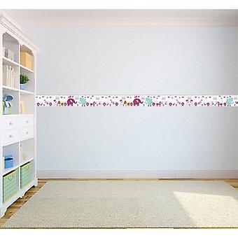 Kinderzäute Haustiere Design Kinder selbst, Vinyl 5M Tapeten-Border