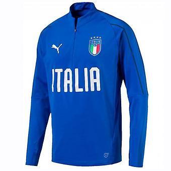 2018-2019 Italy Puma Quarter Zip Training Top (Blue)