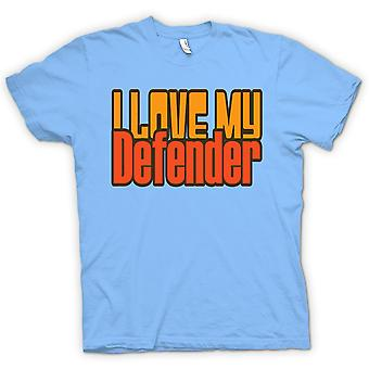 Womens T-shirt - I Love My Defender - Car Enthusiast