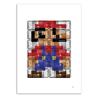 Konst-affisch-rörmokare 80-Rubiant 50 x 70 cm
