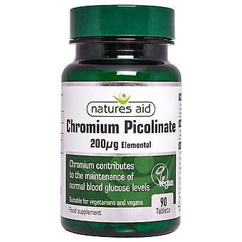 Nature's Aid Chromium Picolinate 20ug comprimés élémentaires 90