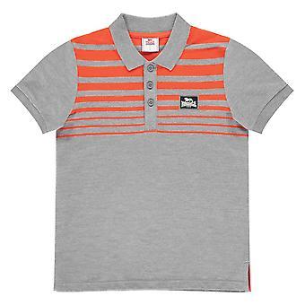 Lonsdale Boys Stripe Polo Shirt T-Shirt Top Junior Short Sleeve