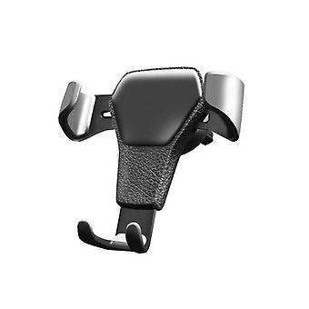 Mobile holder with fan bracket for car, black