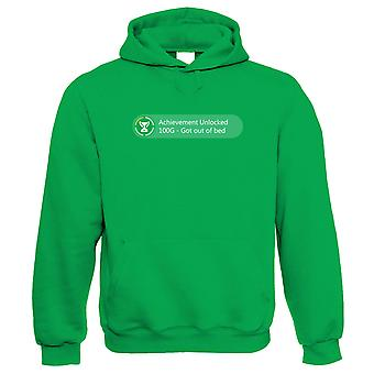 Achievement Unlocked Got Out Of Bed Gaming Hoodie | Parenthood Parenting Children Son Daughter Twins | Gamer Graphics Console PC Shooter RPG Free Roam | Parent Gift Him Her Birthday