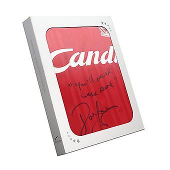 John Barnes ondertekend 1988 / 89 Liverpool thuis Shirt: You Never Walk Alone In geschenkdoos