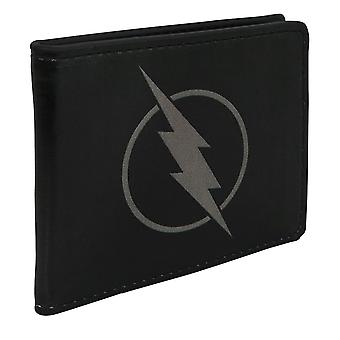 Flash Zoom Symbole Men-apos;s Black Bi-Fold Portefeuille