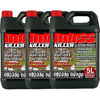 3 X 5 Litre Red Homefront Moss Killer Patio Cleaner